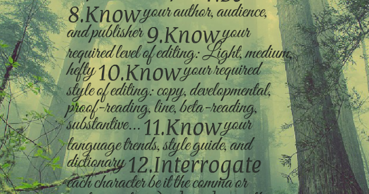 Thirteen Rules of an Editor